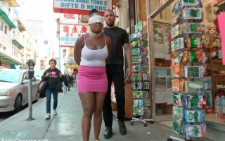 Huge natural tits bouncing all over in a seedy ally in china town. Flogging, pussy pounding and face fucking for this attention whore.