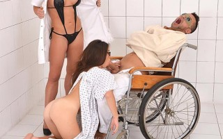 Kinky Doctor Forces Her Patients To Have Strap-On Anal Sex