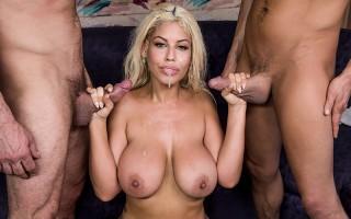 Rich babe Bridgette B gets double penetrated
