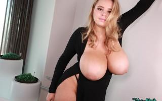 Vivian Blush Perfect Busty Look in black dress