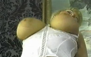 Vintage chubby blond with huge tits