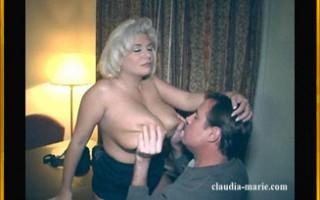 Big tit blonde getting her jugs devoured