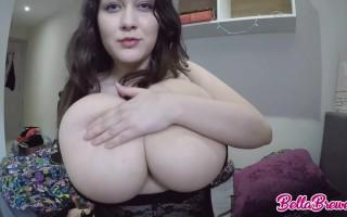 Bella Brewer Webcam Tease With Her Big Natural Melons