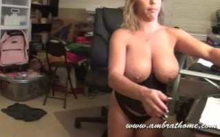 A sexy home movie with Amber and Peter.