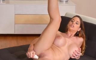 Cathy Heaven sliding off her bra