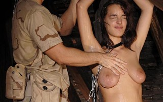 Sexy & Defiant Bound Captive Completely Oiled and Feathered
