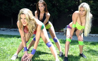 Everything was going fine, Johnny and his team were practicing for the big game, and were almost ready. Trouble was brewing though. The girls from the lingerie league needed the field also, and refused to give up their side for anyone. So after a